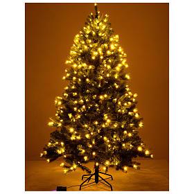 Árbol de Navidad 225 cm verde Poly Memory Shape luces Bluetooth s3