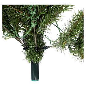 Árbol de Navidad 225 cm verde Poly Memory Shape luces Bluetooth s8