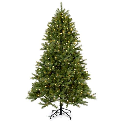 Árbol de Navidad 225 cm verde Poly Memory Shape luces Bluetooth 1