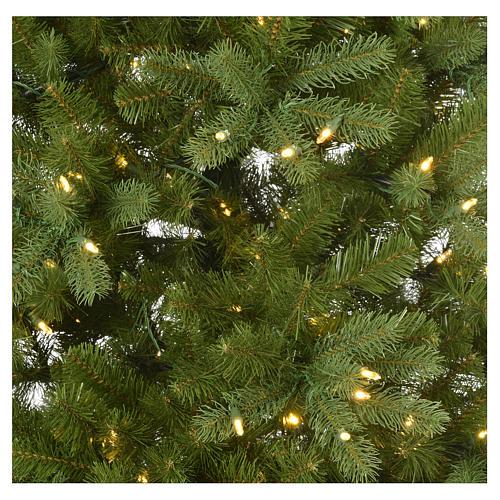 Árbol de Navidad 225 cm verde Poly Memory Shape luces Bluetooth 4