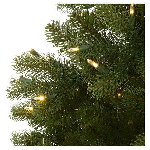 Árbol de Navidad 225 cm verde Poly Memory Shape luces Bluetooth 5