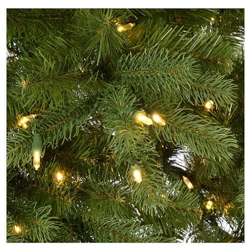 Árbol de Navidad 225 cm verde Poly Memory Shape luces Bluetooth 6
