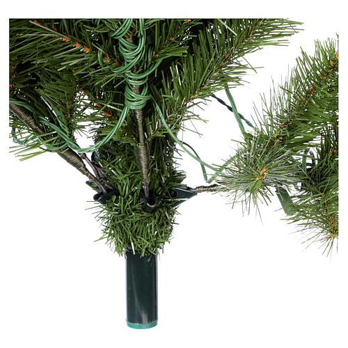 Árbol de Navidad 225 cm verde Poly Memory Shape luces Bluetooth 8