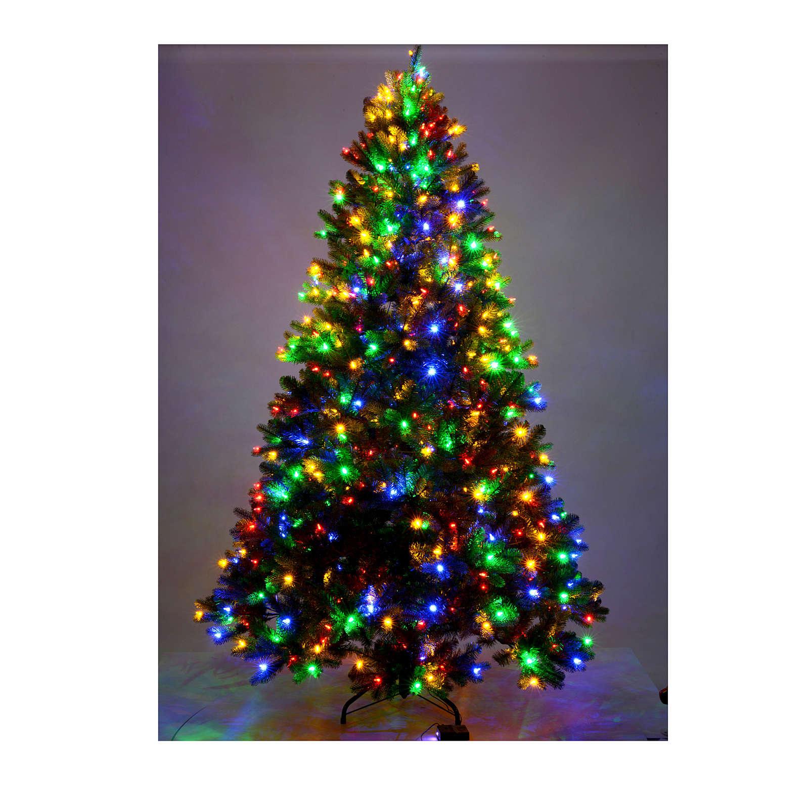 Albero di Natale 225 cm verde Poly memory shape luci Bluetooth 3