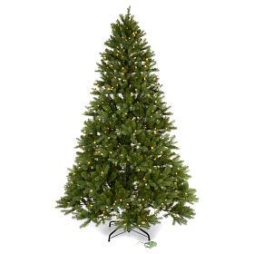 Albero di Natale 225 cm verde Poly memory shape luci Bluetooth s1