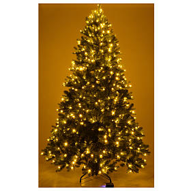 Albero di Natale 225 cm verde Poly memory shape luci Bluetooth s5