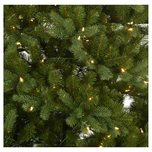 Albero di Natale 225 cm verde Poly memory shape luci Bluetooth 2