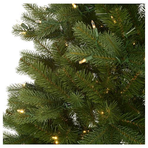 Albero di Natale 225 cm verde Poly memory shape luci Bluetooth 4