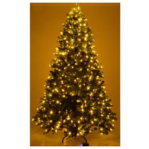 Albero di Natale 225 cm verde Poly memory shape luci Bluetooth 5