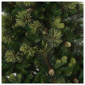 Sapin de Noël 210 cm vert avec pommes de pin modèle Carolina s3