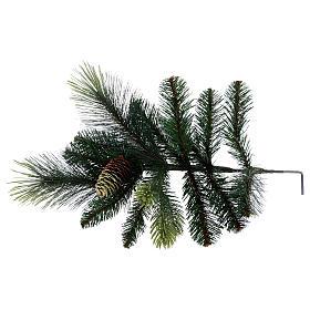 Albero di Natale 210 cm verde con pigne modello Carolina s6