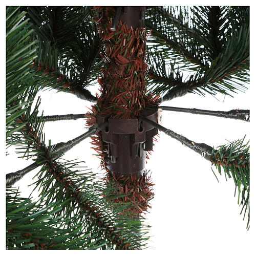 Albero di Natale 210 cm verde con pigne modello Carolina 5