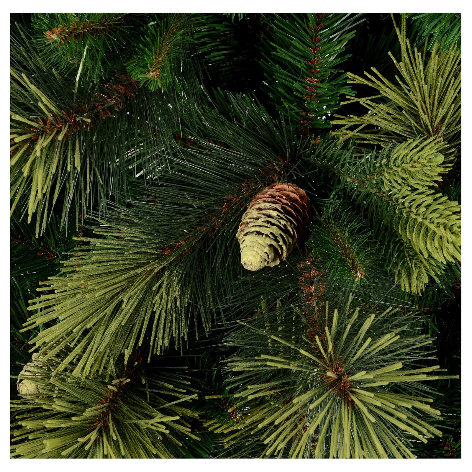 Sapin de Noël 225 cm couleur vert avec pommes de pin Carolina 3