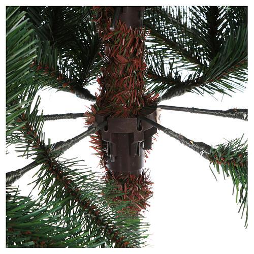 Albero di Natale 225 cm colore verde con pigne modello Carolina 5