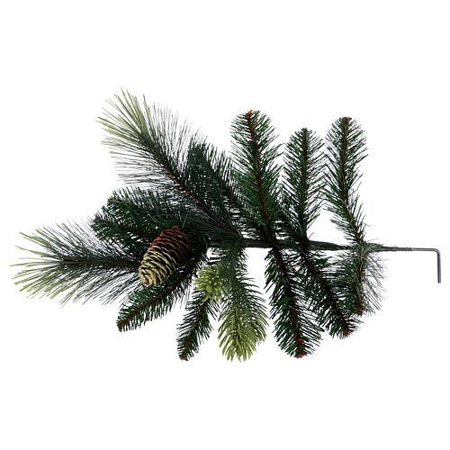 Albero di Natale 225 cm colore verde con pigne modello Carolina 6