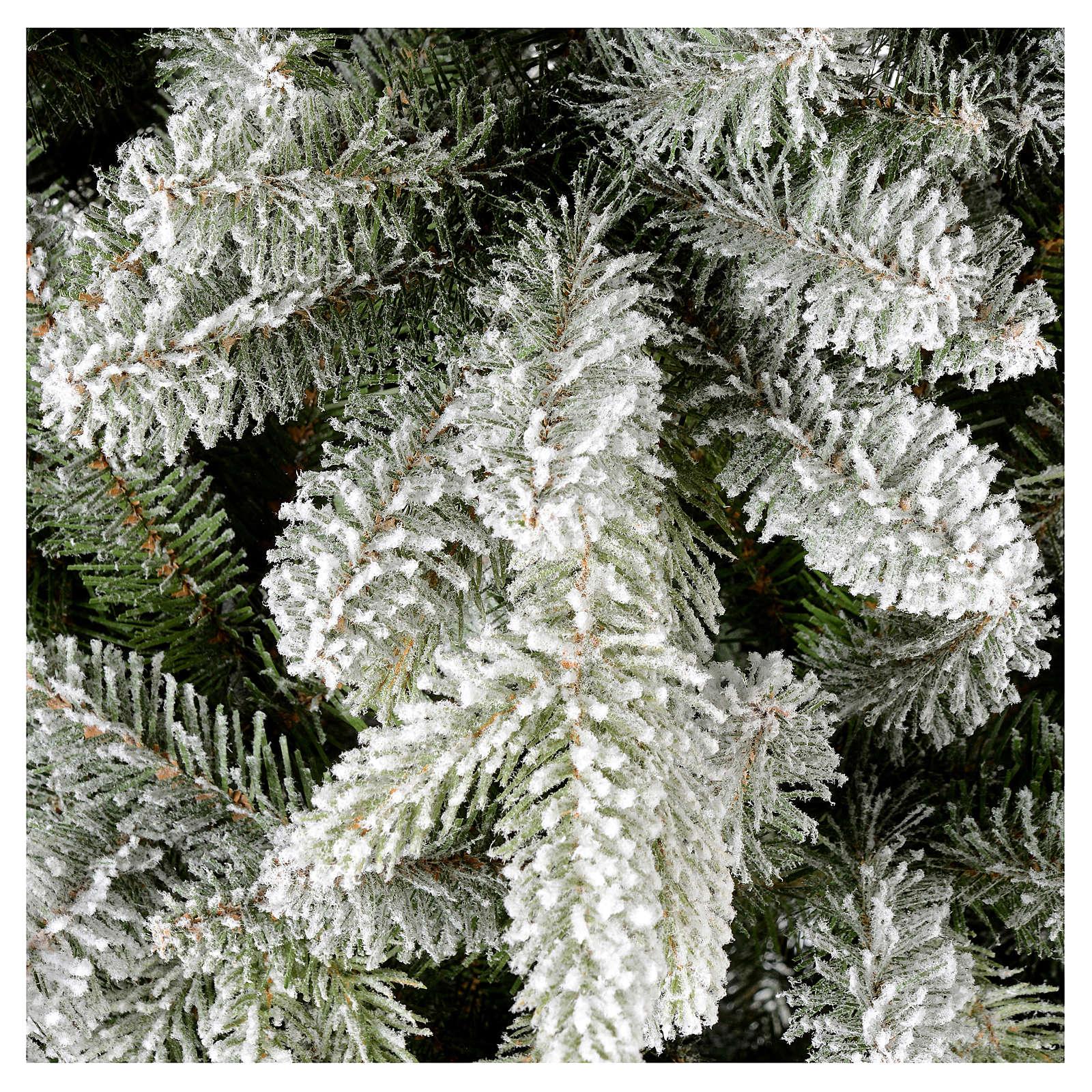 Árbol de Navidad 210 cm copos de nieve modelo Snowy Sierra 3