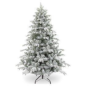 Árbol de Navidad 210 cm copos de nieve modelo Snowy Sierra s1