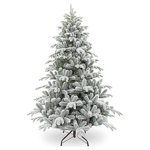 Albero di Natale 210 cm Poly floccato Snowy Sierra 1