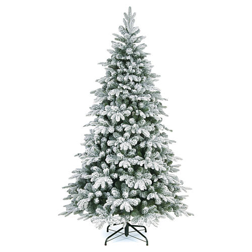 Albero di Natale 180 cm floccato Poly Everest 1
