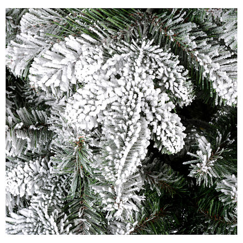 Albero di Natale 180 cm floccato Poly Everest 2
