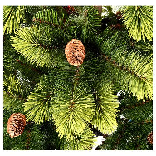Albero di Natale 180 cm pvc verde pigne Woodland Carolina 4