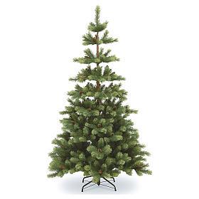 Sapin de Noël 210 cm vert pommes de pin Woodland Carolina s1