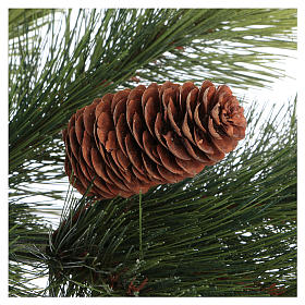Sapin de Noël 210 cm vert pommes de pin Woodland Carolina s5