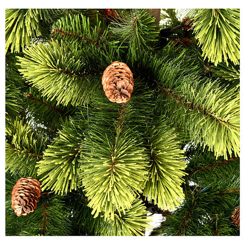 Sapin de Noël 210 cm vert pommes de pin Woodland Carolina 4
