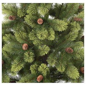 Albero di Natale 225 cm verde con pigne Woodland Carolina s3