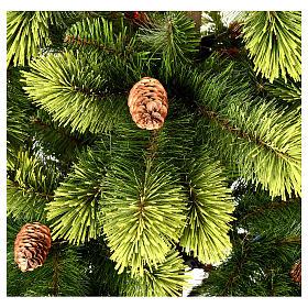 Albero di Natale 225 cm verde con pigne Woodland Carolina s4