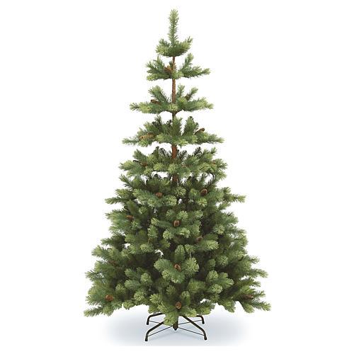 Albero di Natale 225 cm verde con pigne Woodland Carolina 1