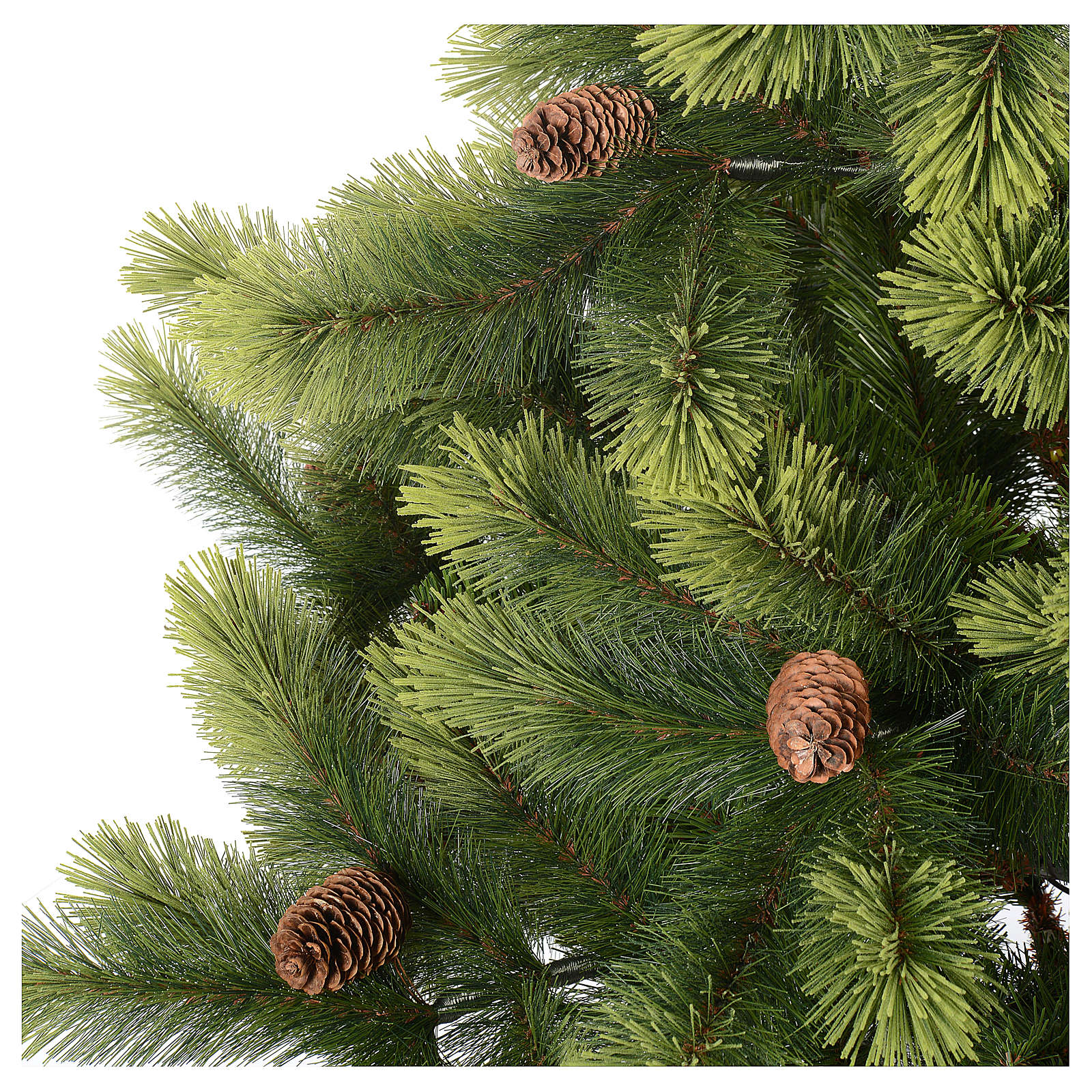 Christmas Tree 225 Cm, Green With Pine Cones Woodland