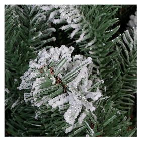 Árbol de Navidad 180 cm Poly copos de neve glitter Sheffield s5