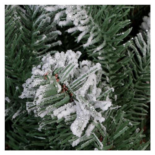 Árbol de Navidad 180 cm Poly copos de neve glitter Sheffield 5