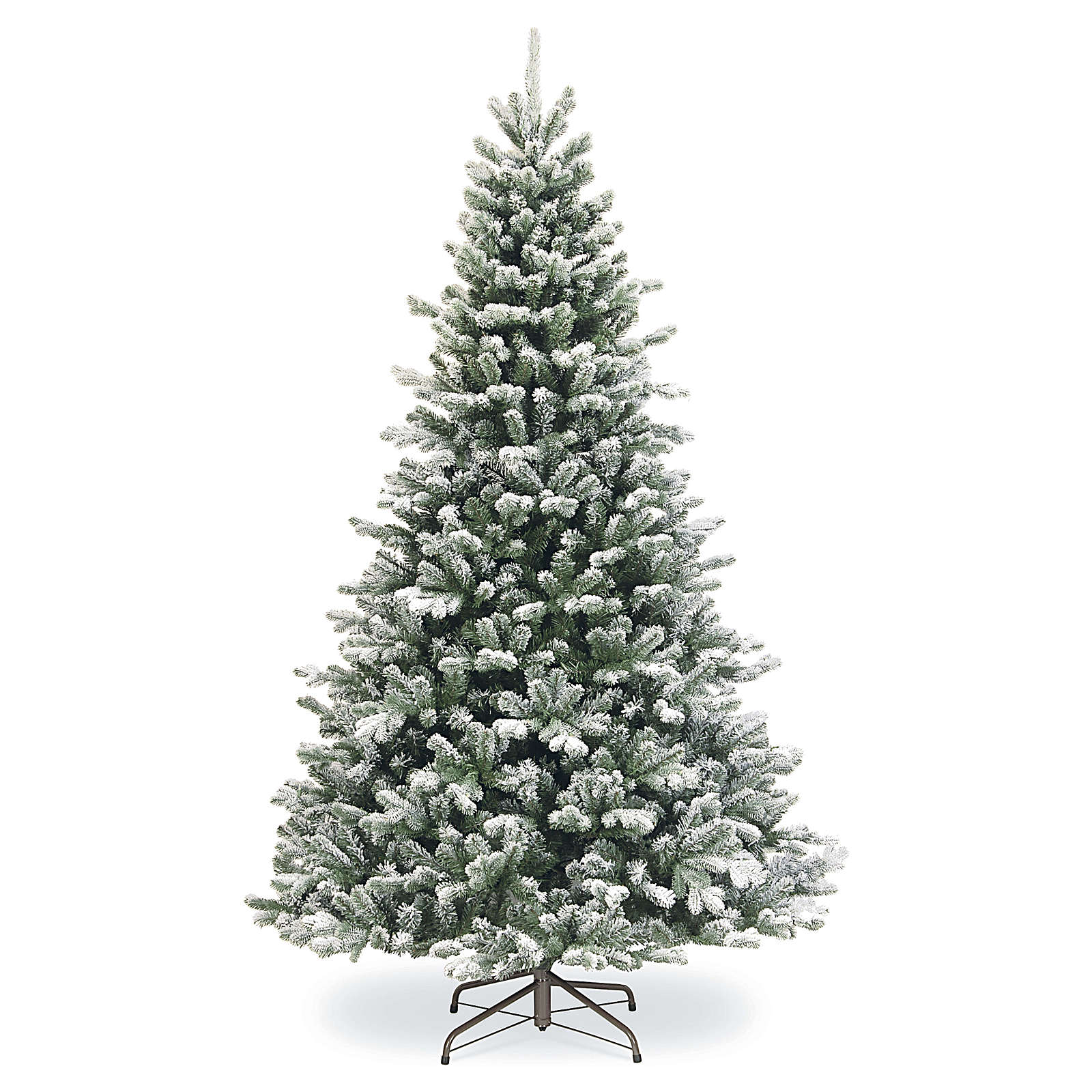 Artificial Christmas tree 180 cm, Sheffield flocked with glitter 3