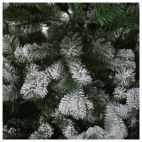 Grüner Weihnachstbaum mit Schnee und Glitter 210cm Mod. Sheffield s4
