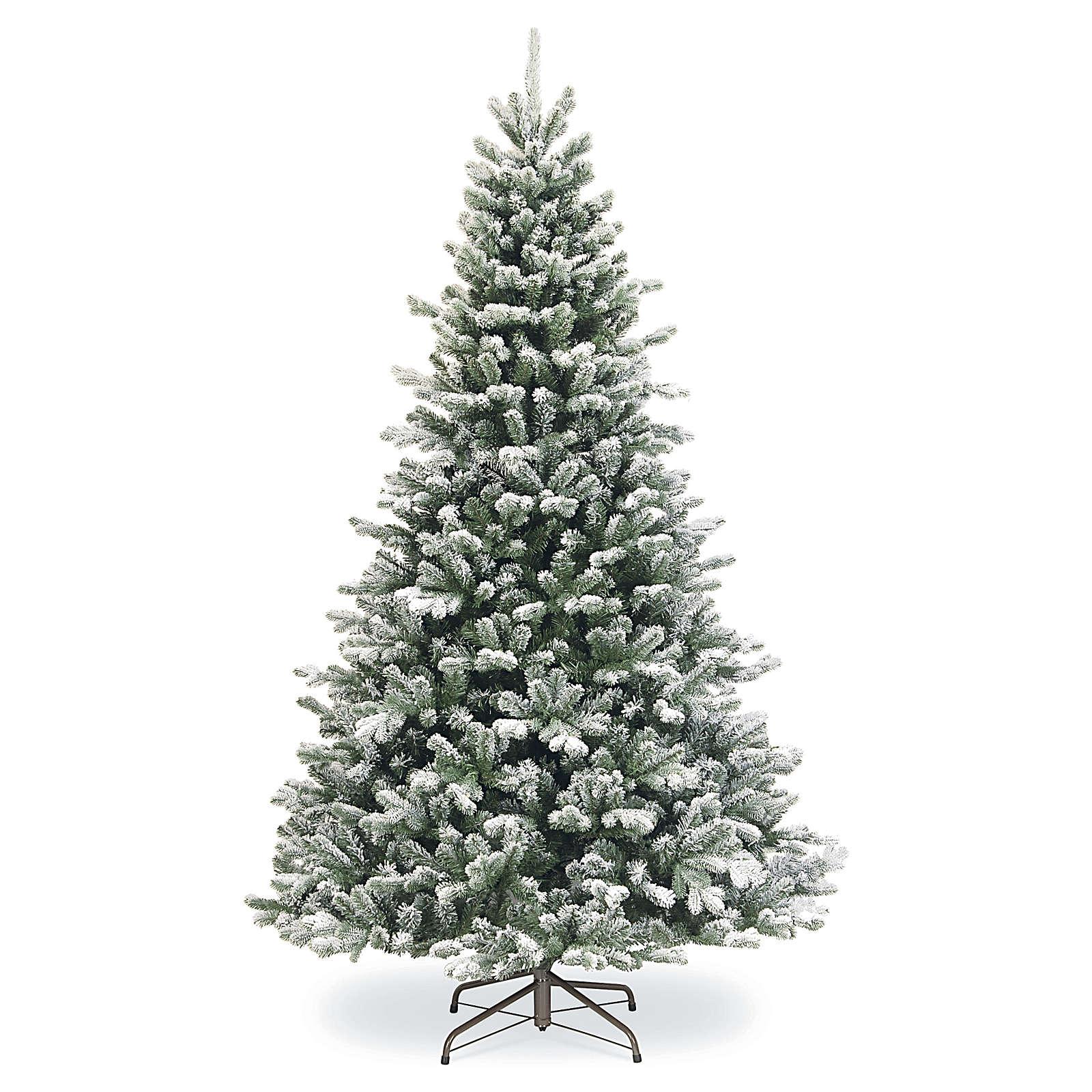 Árbol de Navidad 210 cm copos de neve glitter Poly Sheffield 3