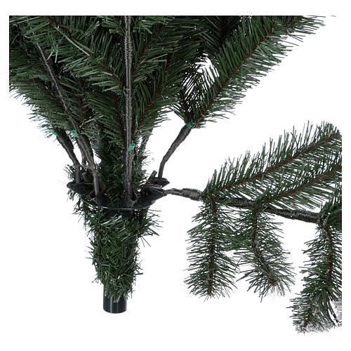 Árbol de Navidad 210 cm copos de neve glitter Poly Sheffield 6