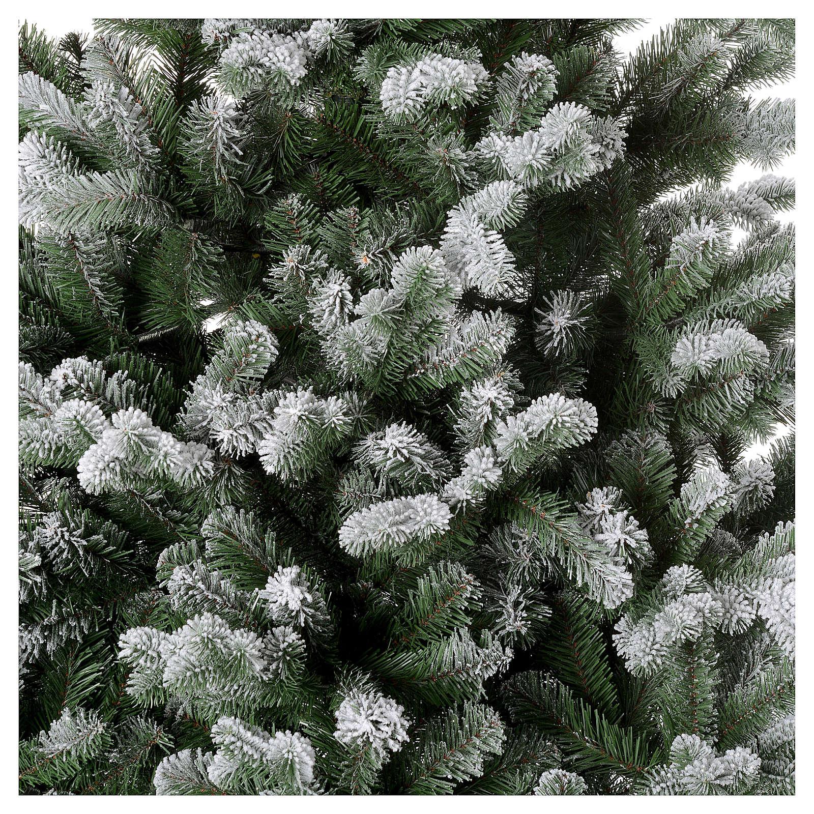 Albero di Natale 210 cm neve floccato glitter Poly Sheffield 3