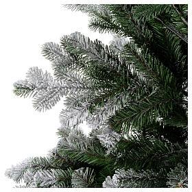 Albero di Natale 210 cm neve floccato glitter Poly Sheffield s2