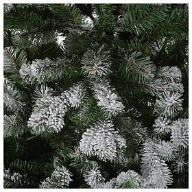Albero di Natale 210 cm neve floccato glitter Poly Sheffield s4