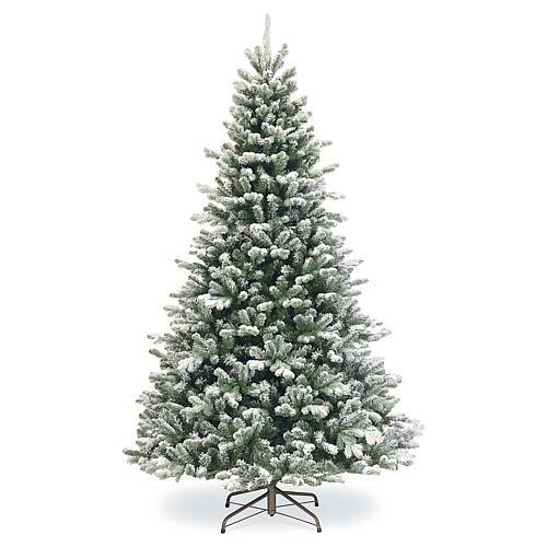 Albero di Natale 210 cm neve floccato glitter Poly Sheffield 1