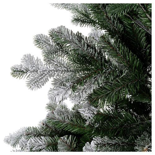 Albero di Natale 210 cm neve floccato glitter Poly Sheffield 2