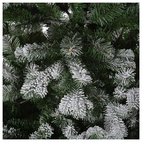 Albero di Natale 210 cm neve floccato glitter Poly Sheffield 4