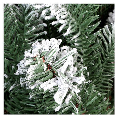 Albero di Natale 210 cm neve floccato glitter Poly Sheffield 5