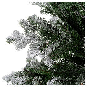 Artificial Christmas tree 210 cm, Sheffield flocked with glitter s2