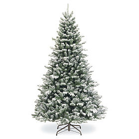 Artificial Christmas tree 225 cm, Sheffield flocked with glitter s1
