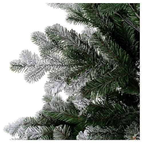 Artificial Christmas tree 225 cm, Sheffield flocked with glitter 2