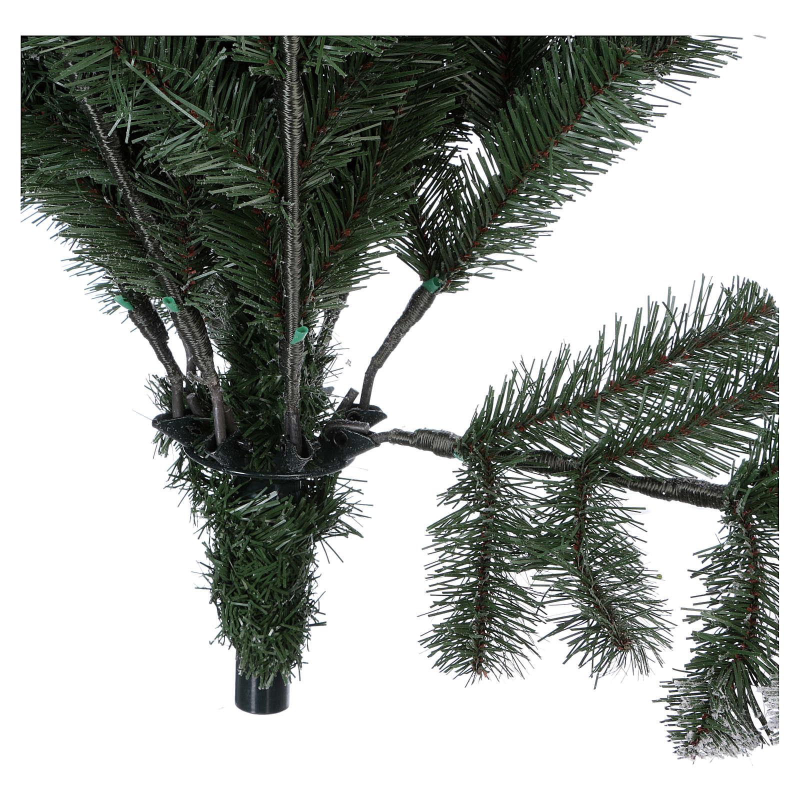 Sapin de Noël 225 cm neige avec glitter Poly Sheffield 3