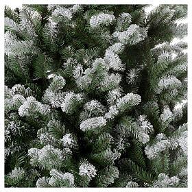 Sapin de Noël 225 cm neige avec glitter Poly Sheffield s3